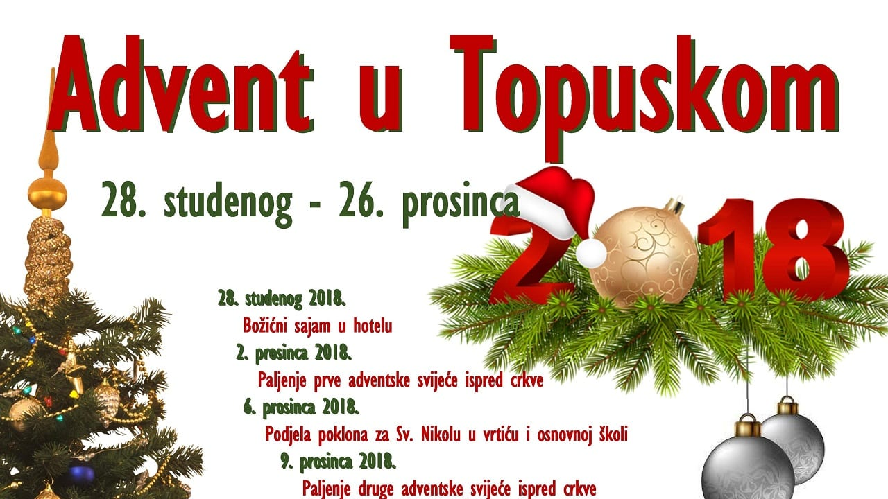 Advent u Topuskom   28.11.-26.12.2018.