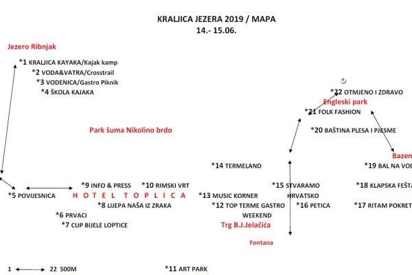 Mapa - Kraljica jezera 2019