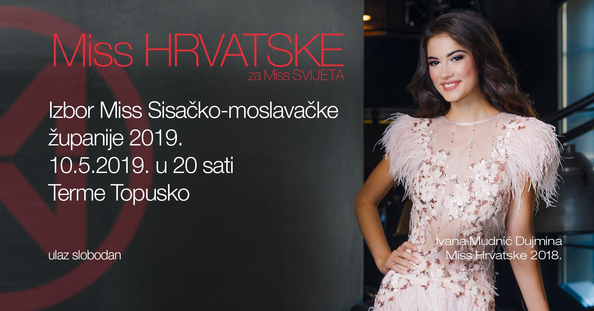 Izbor Miss Sisačko-moslavačke županije 2019.